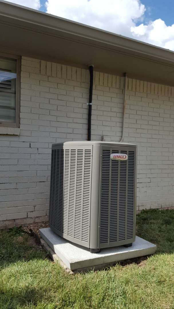 Amarillo, TX - New Lennox heating and cooling system installation.