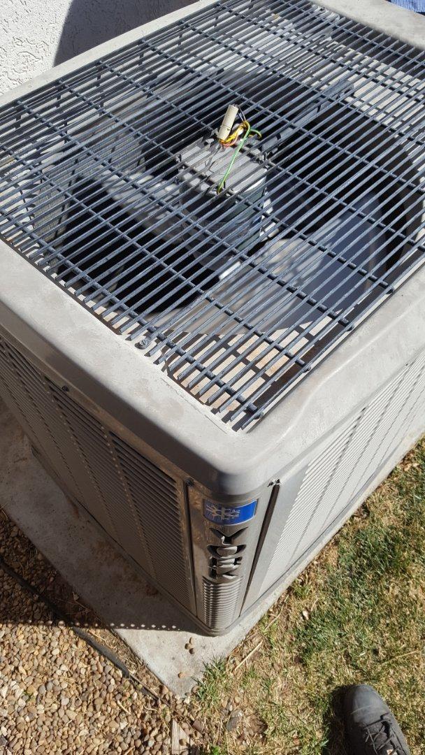 Amarillo, TX - Replaced a York condensor fan motor.