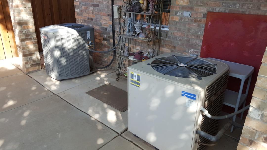 Amarillo, TX - Air conditioner system check.