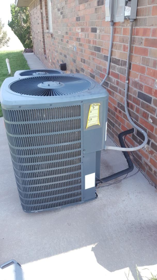 Amarillo, TX - Air conditioner freezing repair.