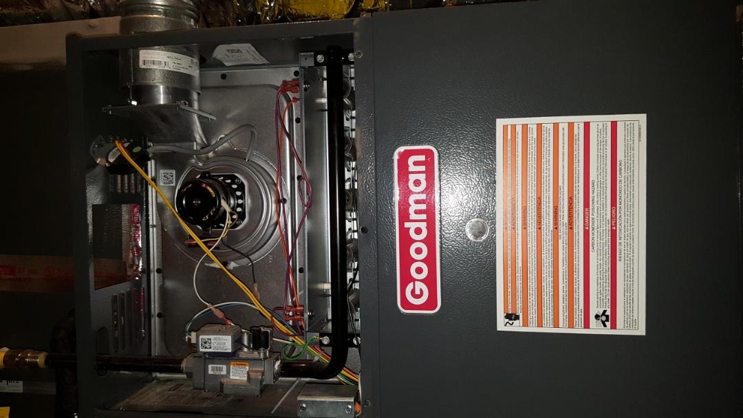 Bushland, TX - Goodman furnace heating system check