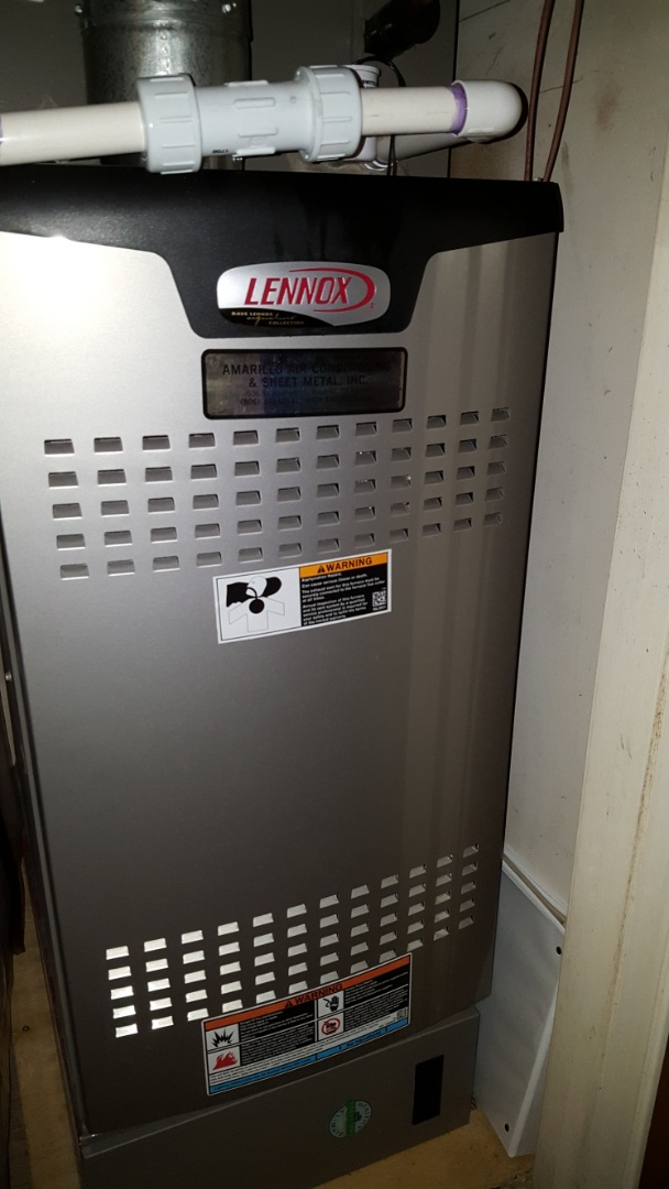 Amarillo, TX - Complimentary heating check on new lennox furnace