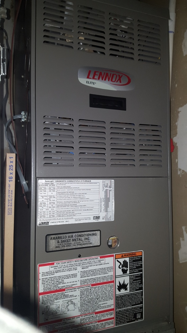 Amarillo, TX - Preventive service on gas furnace