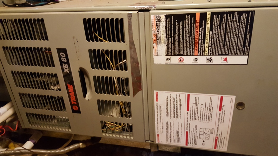 Home comfort renewal heating check on trane furnace