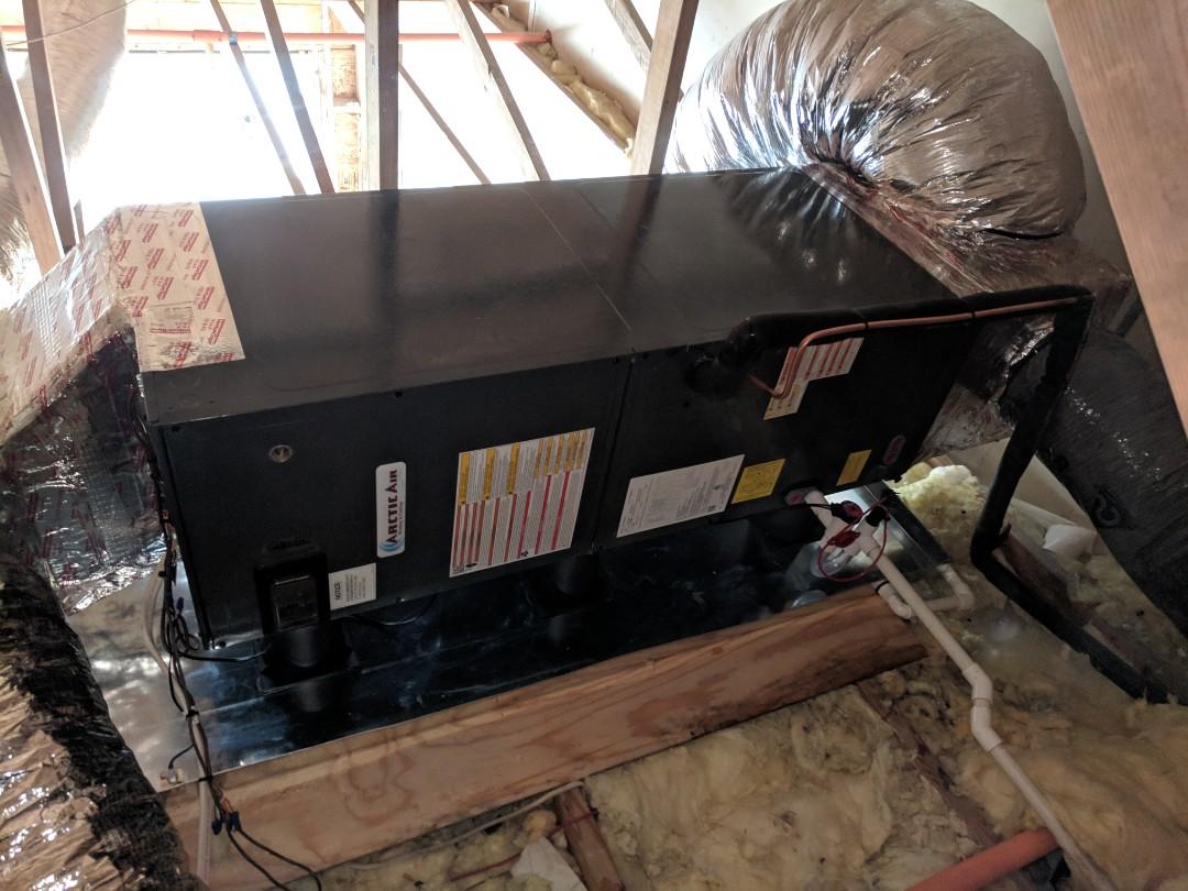 Ocean Pines, MD - Installed Arctic Air heat pump system in Ocean City Condominium