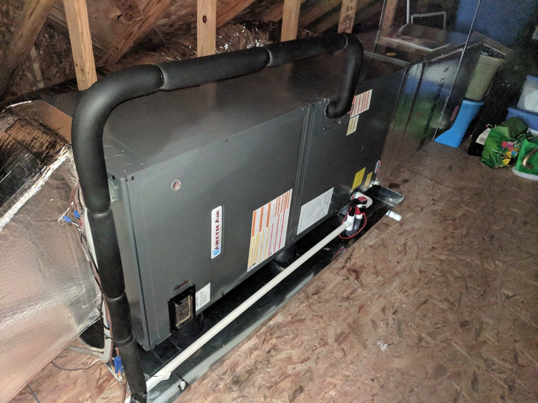 Berlin, MD - Installed Arctic Air heat pump system in ocean pines md