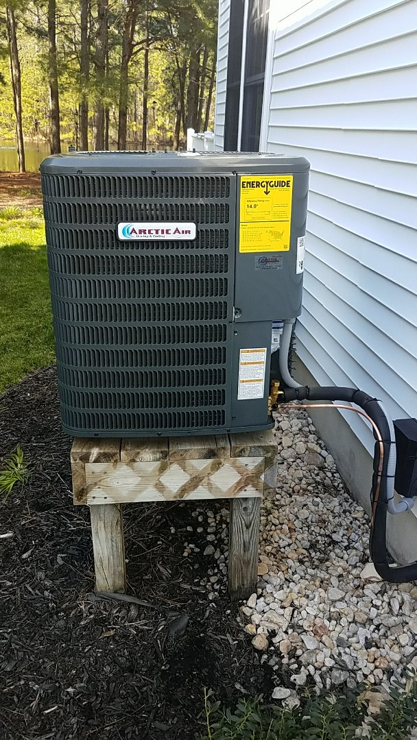 Bethany Beach, DE - Completing installation of Arctic Air Gas Furnace /A.C. unit for a family in Bethany Beach DE