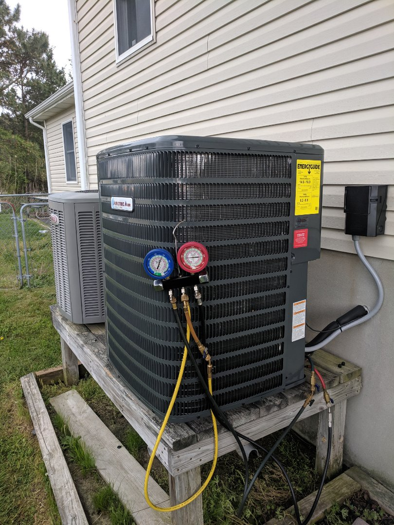 Bishopville, MD - Installed Arctic Air heat pump system in a customer's house in Bishopville md