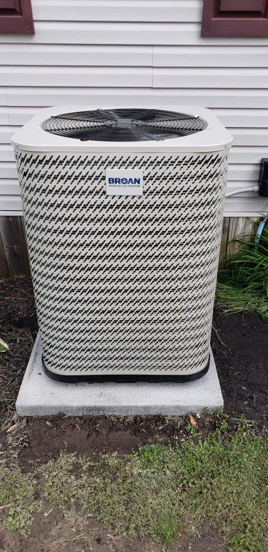 Millsboro, DE - Installed broan ac and furnace in millsboro DE.