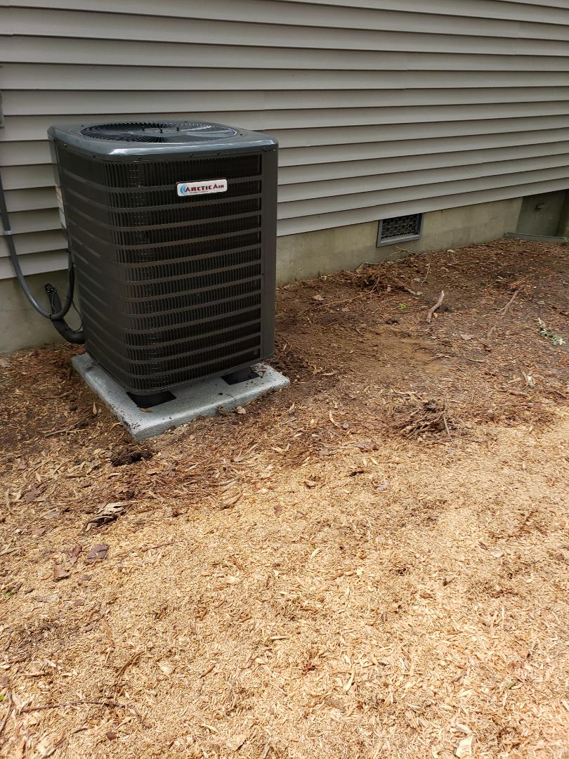 Ocean Pines, MD - Installing a new Arctic Air heatpump system in a single family home in Ocean Pines Maryland