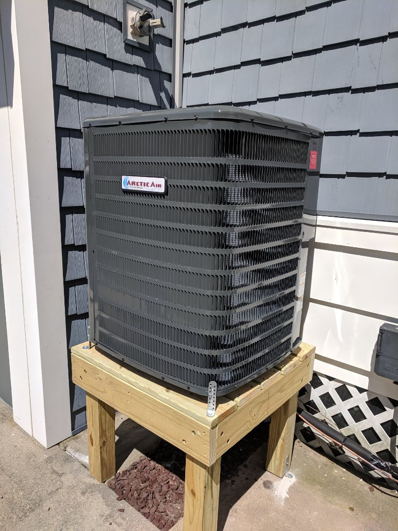 Salisbury, MD - Installed Arctic Air gas furnace with AC on new salt treated deck
