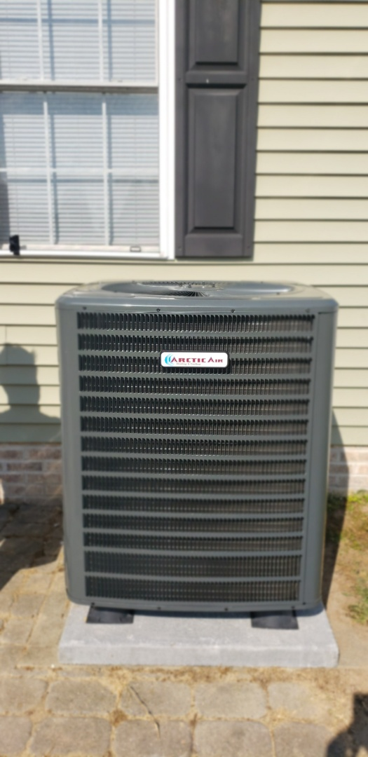 Laurel, DE - Installed a Arctic air heat pump in Laurel DE.