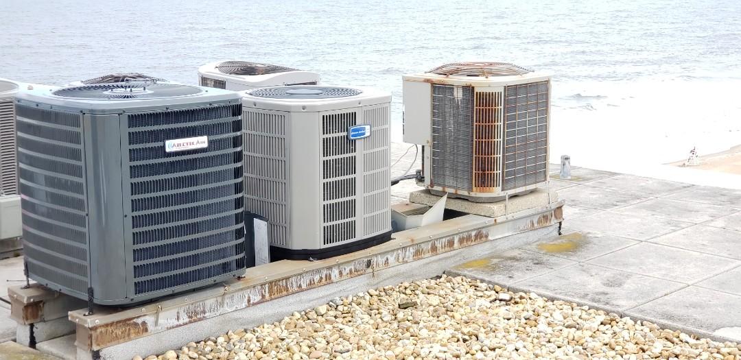 Installing Arctic air unit in Ocean city Md at Golden surf  condos.