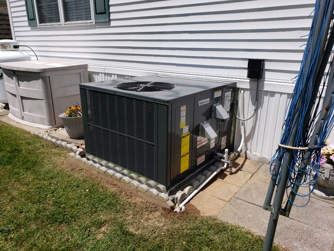 Installing a new gas package unit in a single family home in Berlin MD. At the White Horse Park.
