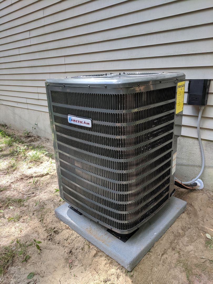 Installed Arctic Air heat pump system for Hilemen real estate in ocean pines MD