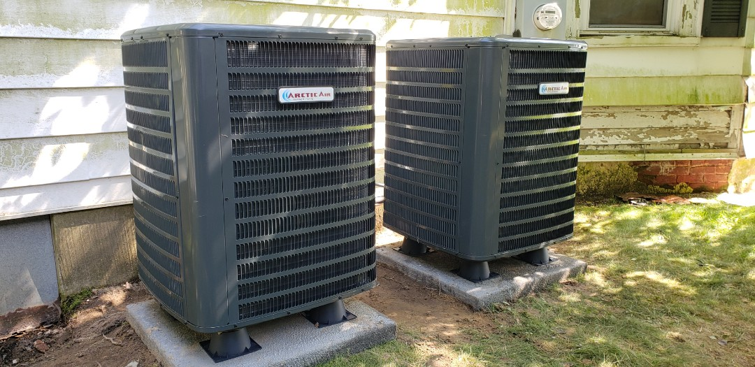 Showell, MD - Installing Arctic air heat pump at Vista Design's. Bishopville md