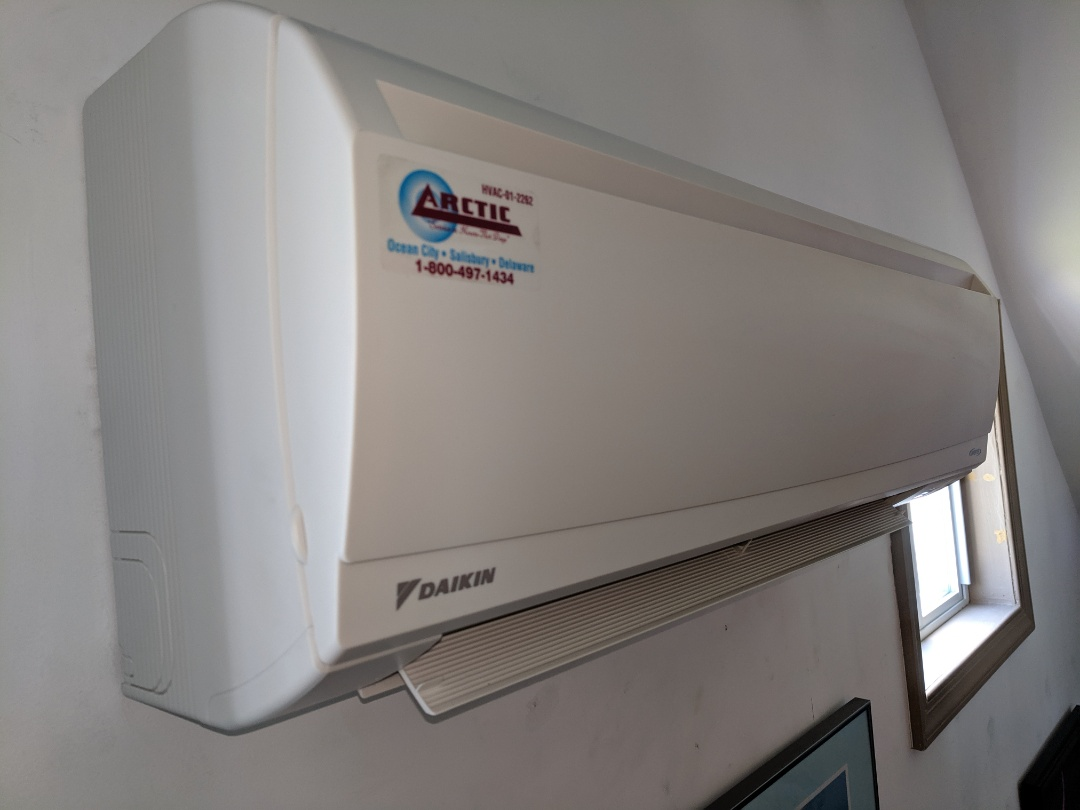 Ocean Pines, MD - Installed Daikin minisplit HP system in west of md