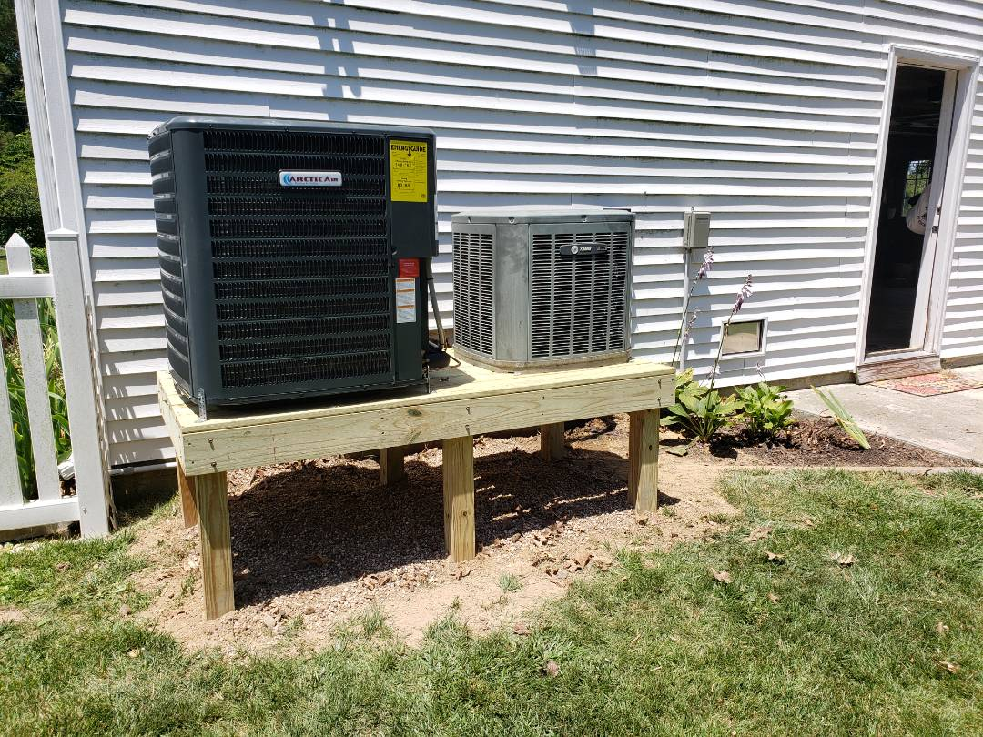 Ocean City, MD - Installing a new 16 seer Arctic Air heatpump system in a single family residence in Ocean City Md
