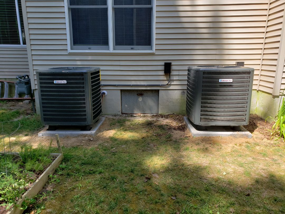 Ocean Pines, MD - Installing a new Arctic Air heatpump system in a single family home in Ocean Pines MD