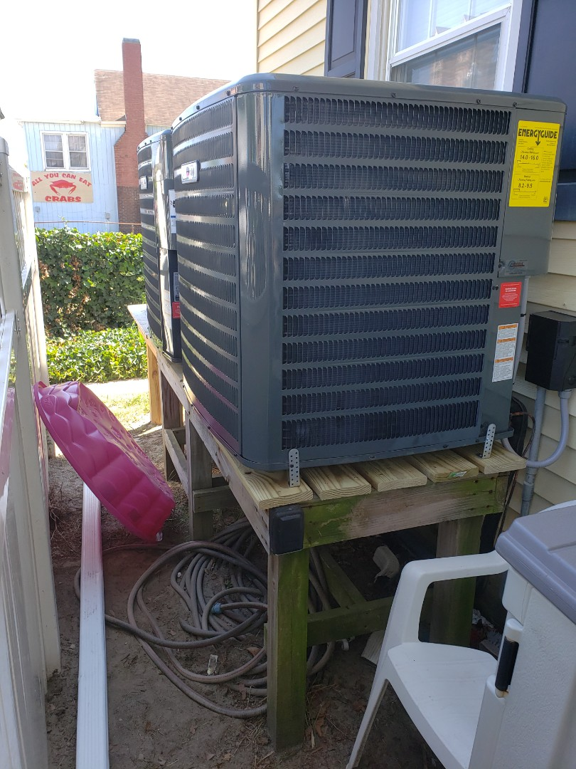 Ocean City, MD - Installing a new heatpump system in a multi family residence in Ocean City MD