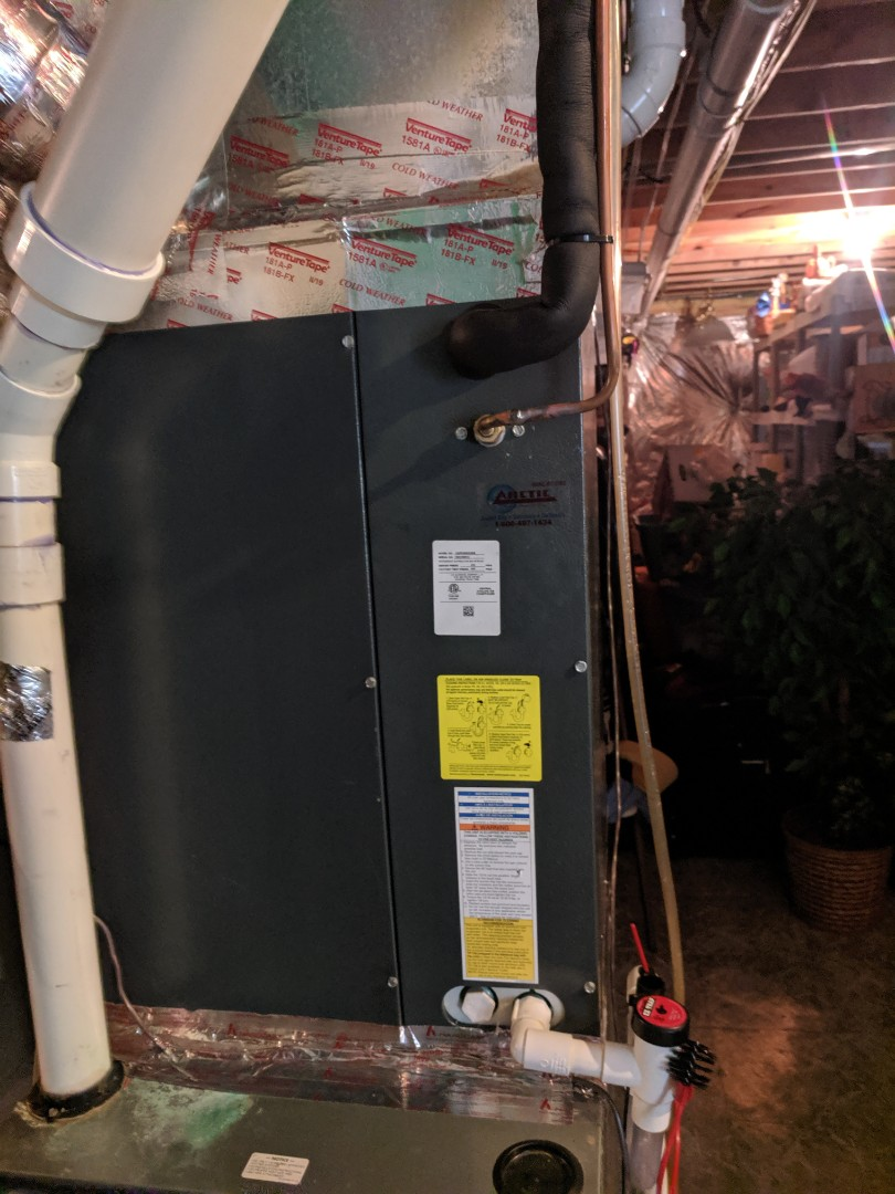Salisbury, MD - Installed new Arctic air coil on existing furnace and set new AC hookup