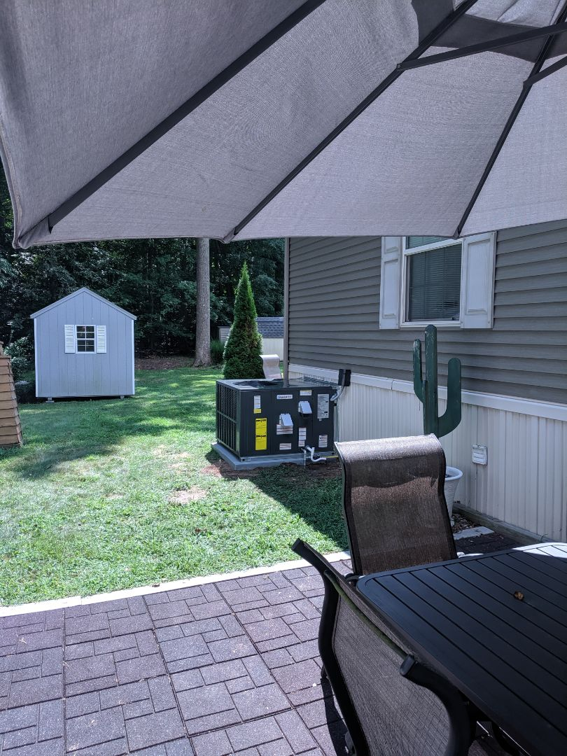 Ocean Pines, MD - Moved package unit to other side of house