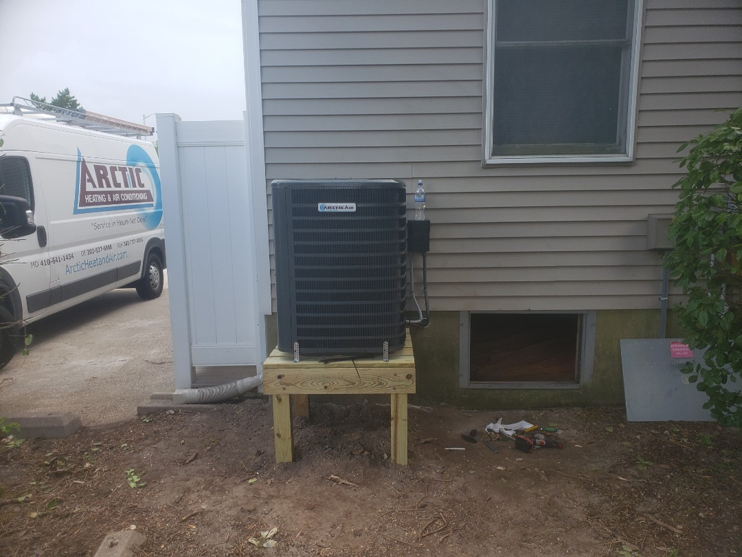 Installing a new Arctic Air 16 seer system in a multi family residence in Ocean City MD