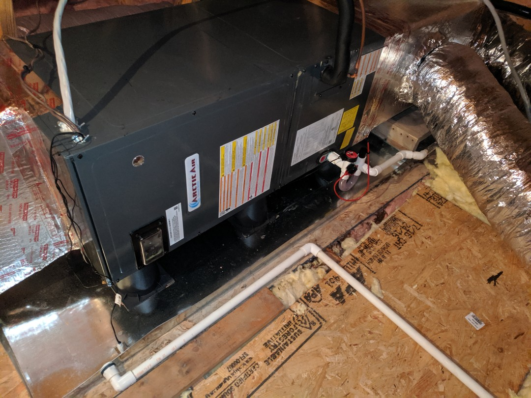 Berlin, MD - Installed Arctic Air heat pump system in attic  in selbyville DE