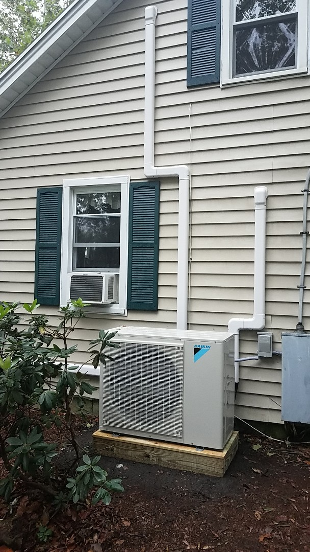 Delmar, DE - Completing installation of Daikin mini split system for a family in Delmar