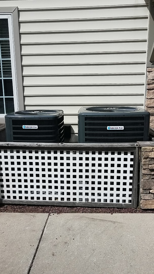 Selbyville, DE - Completing installation of Arctic Air heat pump system and Arctic Air Gas furnace/ AC system for a family in Selbyville DE