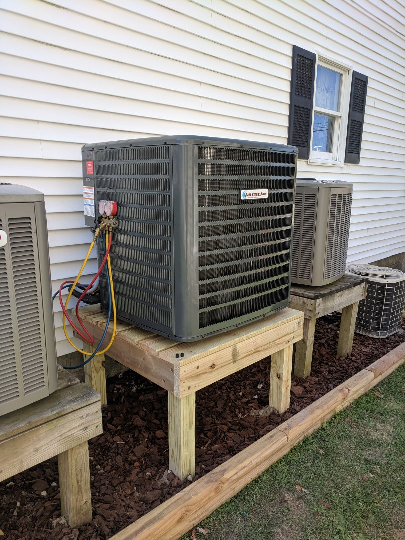 Berlin, MD - Installed Arctic Air heat pump system