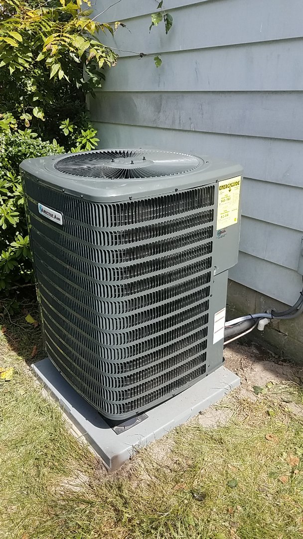 Salisbury, MD - Completing installation of Arctic Air heat pump for a family in Salisbury MD