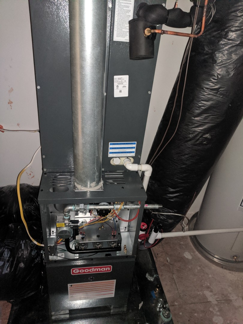 Bethany Beach, DE - Started gas furnace dual fuel heat pump install