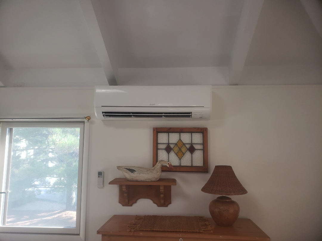 Bethany Beach, DE - Installing a new Mitsubishi ductless system in a single family home in Bethany Beach Deleware.