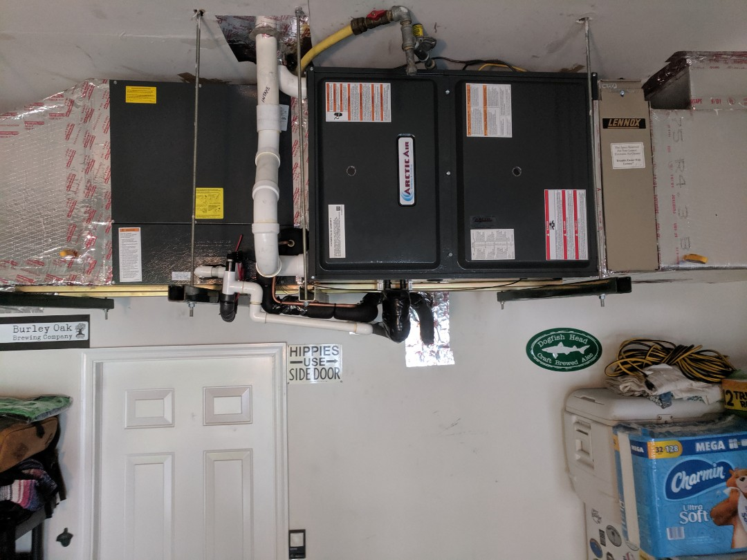 Ocean Pines, MD - Installed gas furnace in garage
