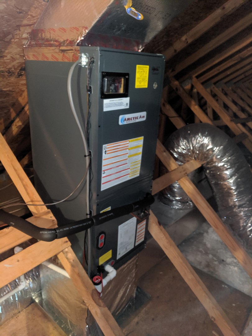 Ocean Pines, MD - Installed attic upflow air handler