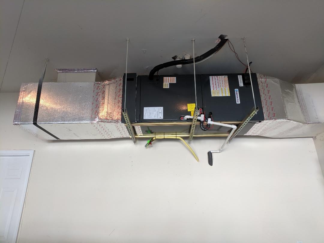 Berlin, MD - Installed Arctic Air heat pump system in garage