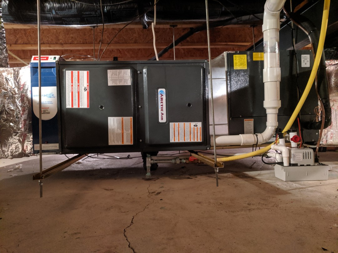 Lewes, DE - Removed existing furnace and set new