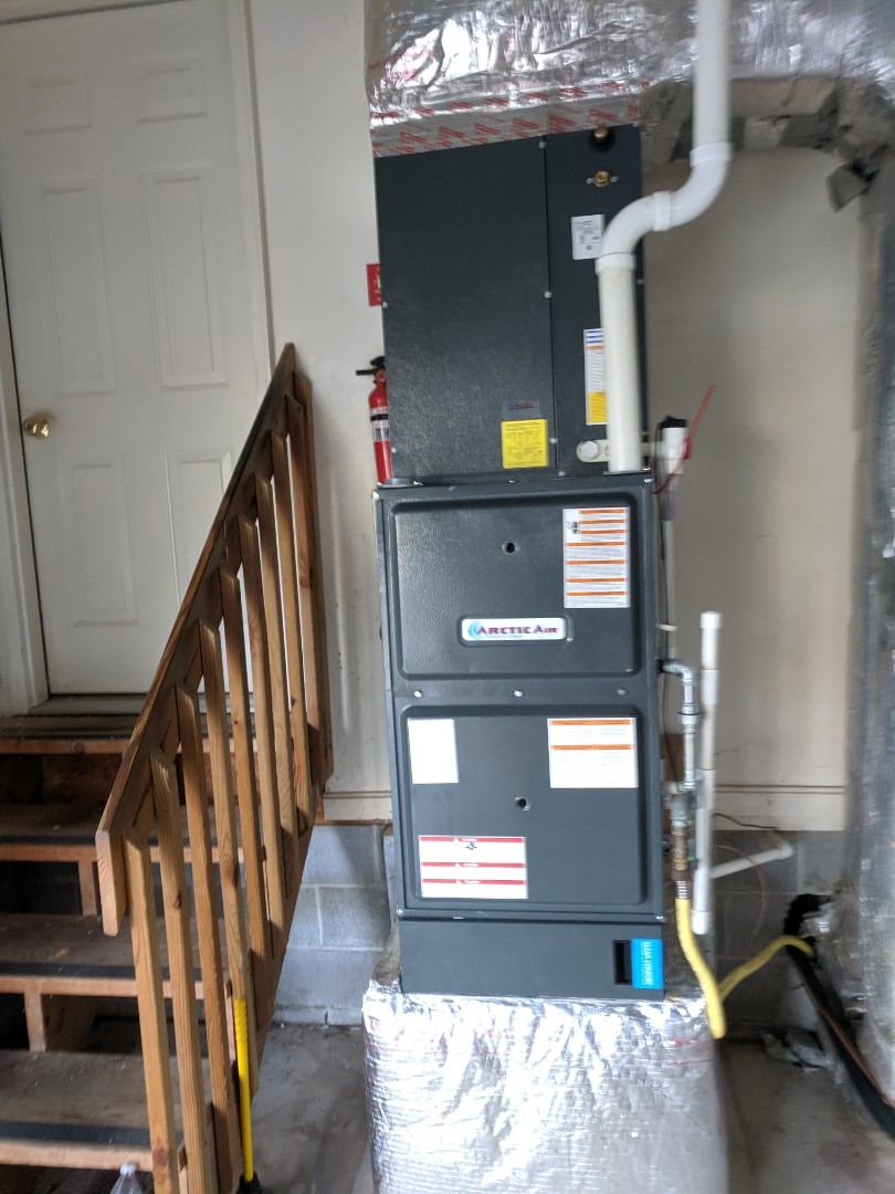 Ocean Pines, MD - Installed gas furnace and startup