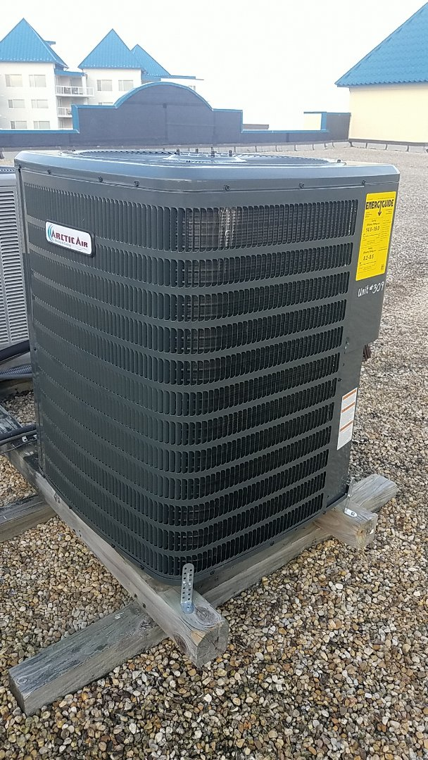 Ocean City, MD - Completing installation of Arctic Air heat pump system for a family in ocean city