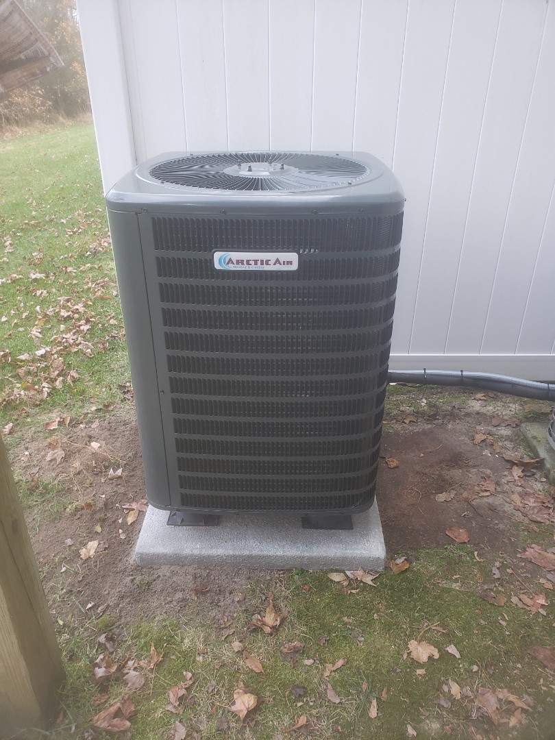 Dagsboro, DE - Installing a new 16 seer heatpump system in a multifamily residence in Dagsboro DE at Chapel Crossing