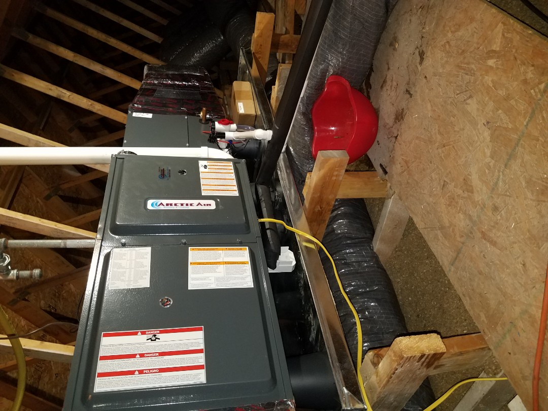 Bethany Beach, DE - Completing installation of Arctic Air AC/Gas furnace system for a family in Bethany Beach DE
