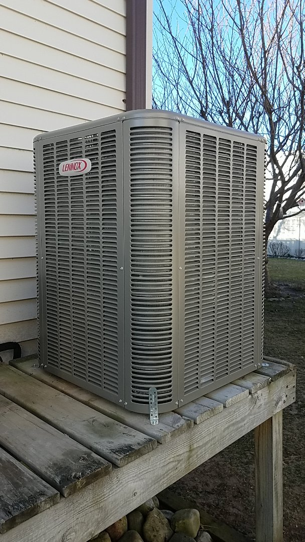Ocean City, MD - Completing installation of Lennox Heat Pump system for a family in Ocean City