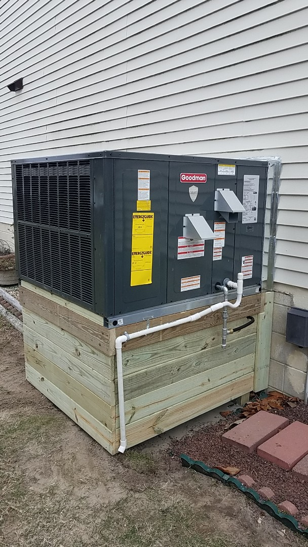 Ocean City, MD - Completing installation of Arctic Air Gas/AC package unit for a family in Ocean City