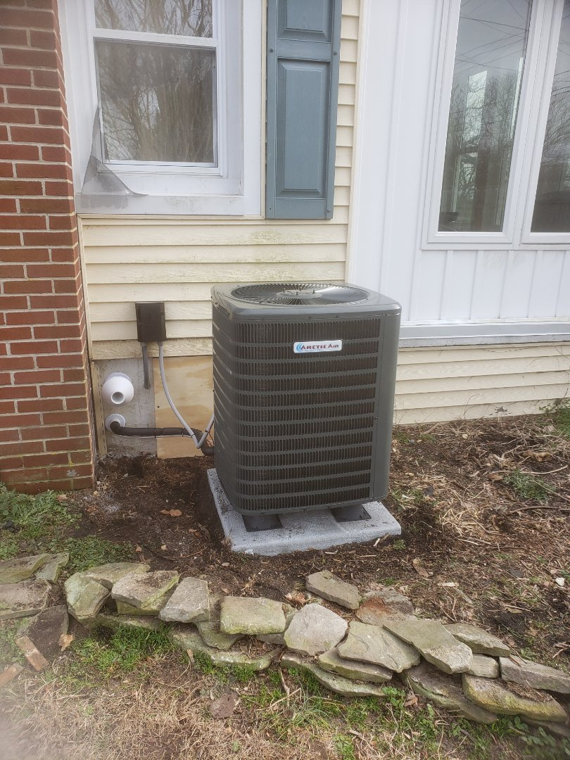 Millsboro, DE - Installing a new 16 seer Ac system with 90+ gas furnace in a single family home in Millsboro DE