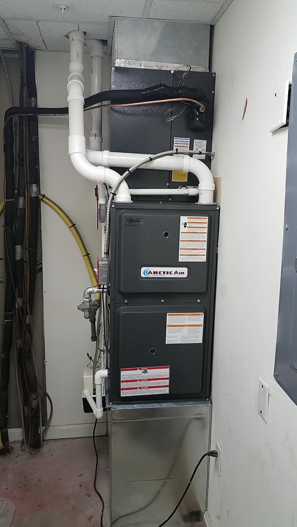 Ocean City, MD - Completing installation of Arctic Air has furnace/ AC unit for a family in Ocean City at Sea Palms