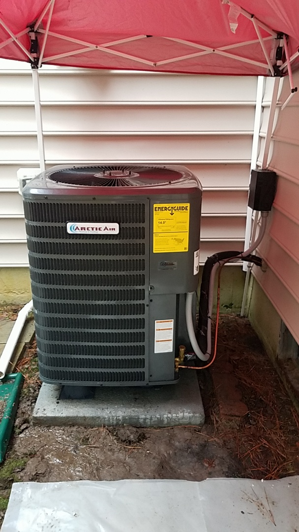 Ocean Pines, MD - Completing installation of Arctic Air AC/Gas Furnace system for a family in Ocean Pines