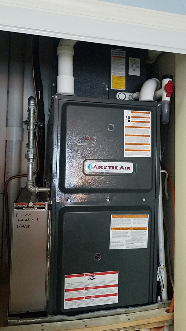 Ocean City, MD - Completing installation of Arctic Air AC/Gas furnace system for a family in Ocean City at Harbour Club
