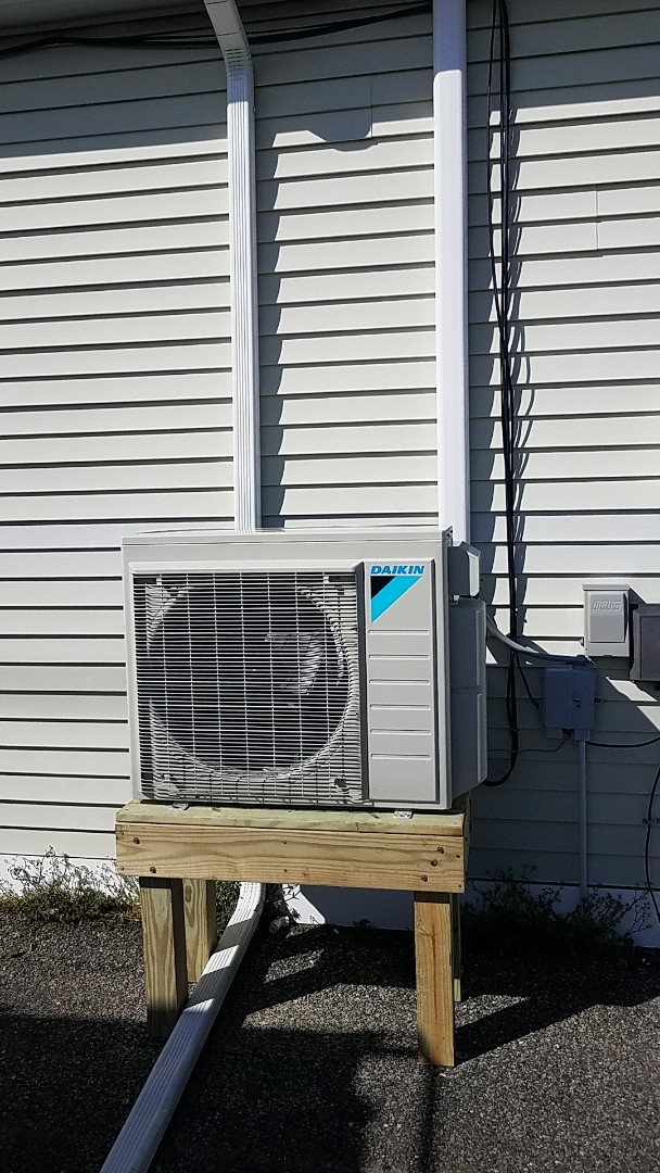 Ocean City, MD - Completing installation of Daikin multi zone mini split system for a business in West Ocean City