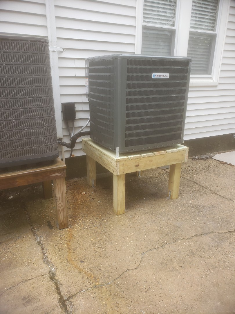 Ocean City, MD - Installing a new Arctic Air 16 seer system in a multi family residence in OC MD